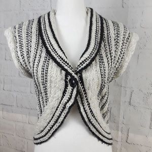 CAbi Cropped Knit Sweater Vest Wool Blend